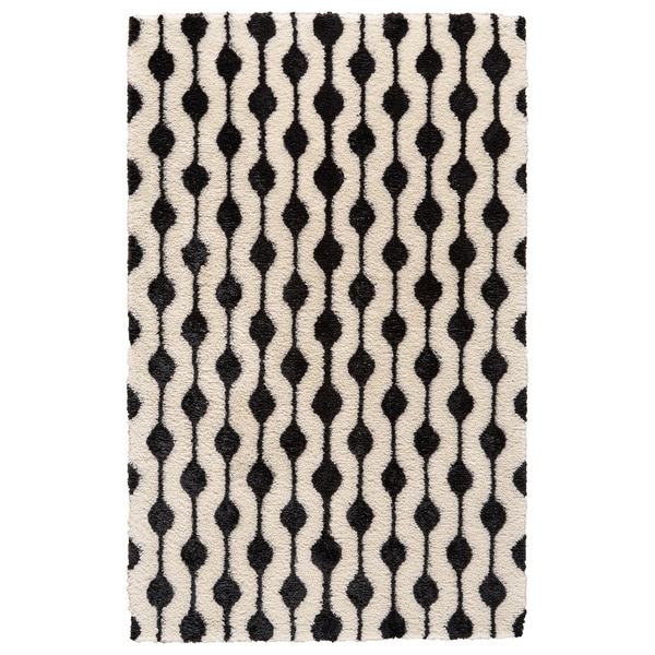 Grand bazaar noemie white black area rug 8 x