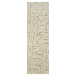 "Grand Bazaar Japel Oatmeal Wool Rug - 2'6"" x 8'"