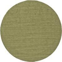 Grand Bazaar Celano Light Green Wool Rug (10' X 10' Round) - 10' x 10'