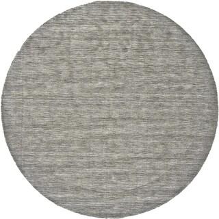 Grand Bazaar Celano Light Gray Wool Rug (10' X 10' Round) - 10' x 10'