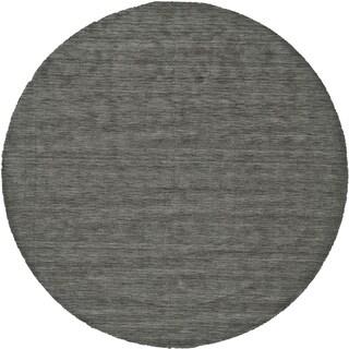 Grand Bazaar Celano Charcoal Wool Rug - 8' x 8' Round