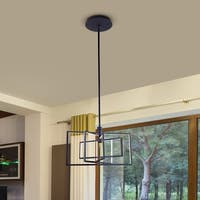VONN Lighting VRP29104BL Radium 25-inch Integrated LED Wide Rectangular Rotating Pendant Light Fixture