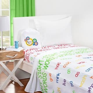 Learning Linens - Word Families Educational Sheet Set with Flashlight and Activity Cards