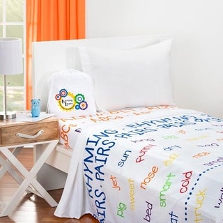 Learning Linens - ABCs Educational Sheet Set with Flashlight and Activity Cards