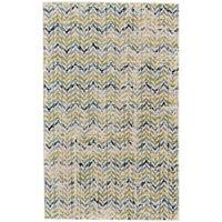 Grand Bazaar Aileen Green/ Cream Wool Rug (8' X 10') - 8' x 10'