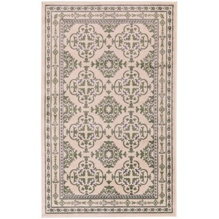Grand Bazaar Aileen Green/ Cream Wool Rug - 8' x 10'