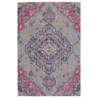 Grand Bazaar Tosca Taupe/ Multi Wool Rug - 8' x 11'
