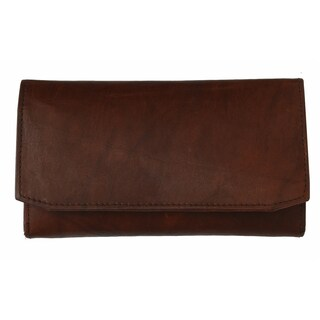 AFONiE The Timeless Leather Tri-fold Women Wallet