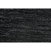 Grand Bazaar Celano Black Wool Rug - 8' x 8' Round