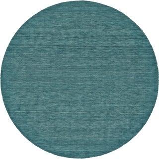 Grand Bazaar Celano Teal Wool Rug (8' X 8' Round) - 8' x 8'