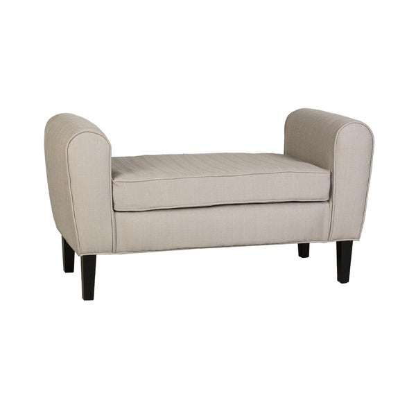 Taylor Attached Cushion Bench in Beige