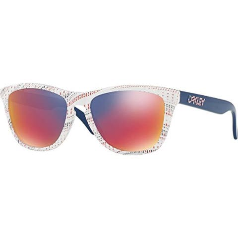 Oakley Frogskins Sunglasses White Team Usa Kinetist/ Red Iridium 55mm
