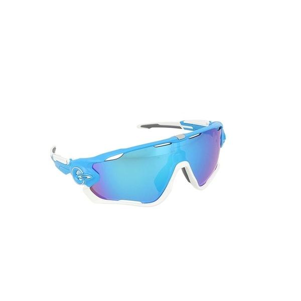 6f9c47efa8 Shop Oakley Jawbreaker Sunglasses Sky Blue  Sapphire Iridium 53mm ...
