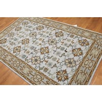 Transitional Pure Wool Hand Tufted Oriental Wool Rug - Multi-color