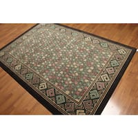 Modern Abstract Indonesian High-Density Area Rug (5'4 x 7'8) - Multi-color