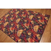 """Modern Abstract Machine Made High Density Indonesian Contemporary Rug - 5'4""""x7'8"""""""