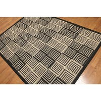 Chic Geometric Machine Made Indoor Outdoor Turkish Dhurry Rug - Multi-color