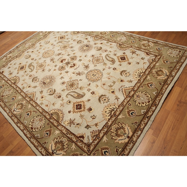 Transitional Patterned Persian Oriental Pure Wool Hand-tufted Rug (8' x 11') - Multi-color