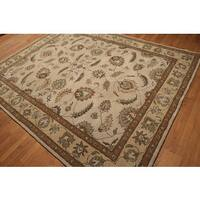 Tan/Multicolored Pure Wool Classic Traditional Hand-tufted Oriental Rug - 8' x 10'