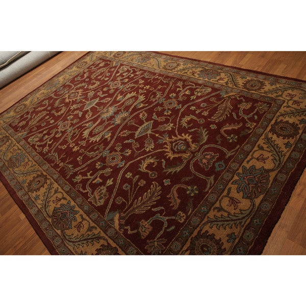 Formal Look Traditional Oriental Wool Hand-tufted Rug - 8' x 11'