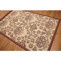 Floral Boho Indoor Outdoor Turkish Dhurry Rug - Multi-color