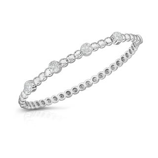 Noray Designs 14K White Gold Beaded Diamond (0.40 Ct, G-H Color, SI2-I1 Clarity) Bangle