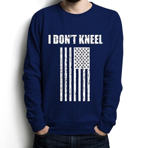 AFONiE I Dont Kneel Long Sleeve Cotton Men T-shirt