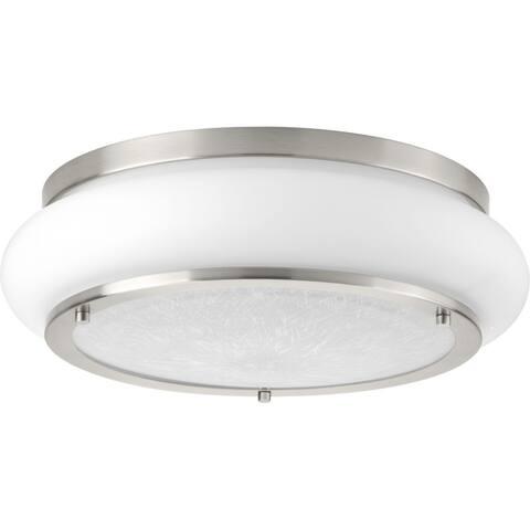 Opal-Linen LED Flush Mount - N/A