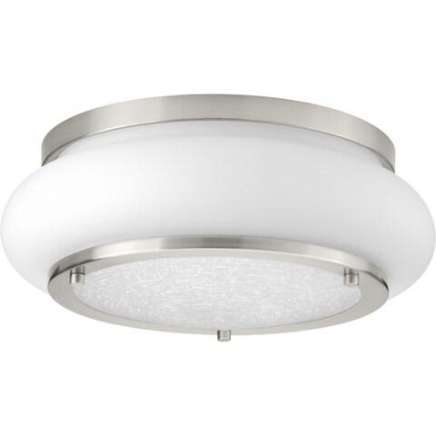 Opal-Linen LED Flush Mount