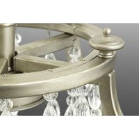 Progress Lighting Desiree 6-Light Silver Steel/Crystal Island Lamp