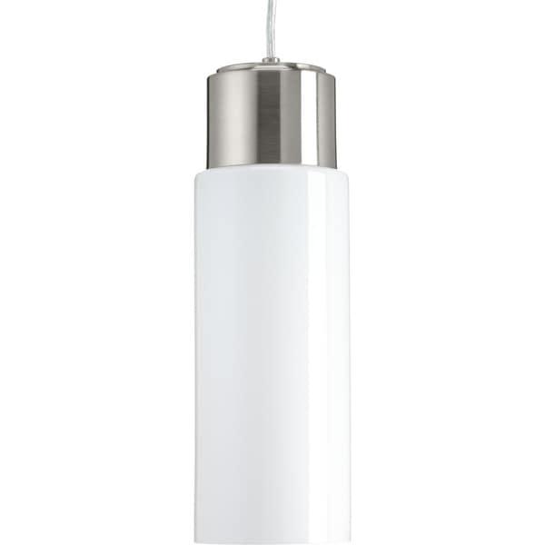 Neat LED Polished Opal Glass Steel 1-light Pendant