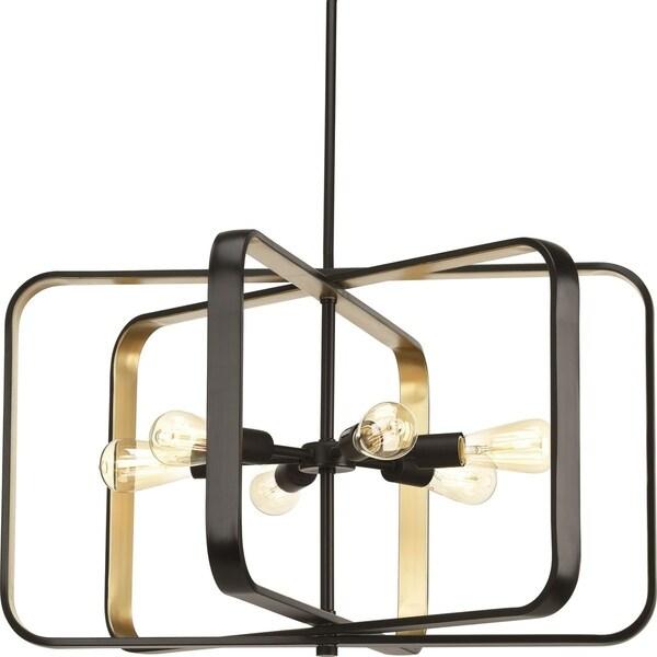 Progress Lighting Centre Dual-tone Steel 6-light Pendant