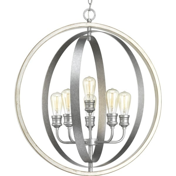 Progress Lighting Conestee Grey/Antique White Steel 6-light Pendant
