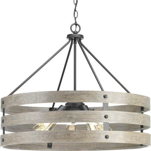 Progress Lighting Gulliver Graphite/Weathered Grey Steel 5-light Pendant