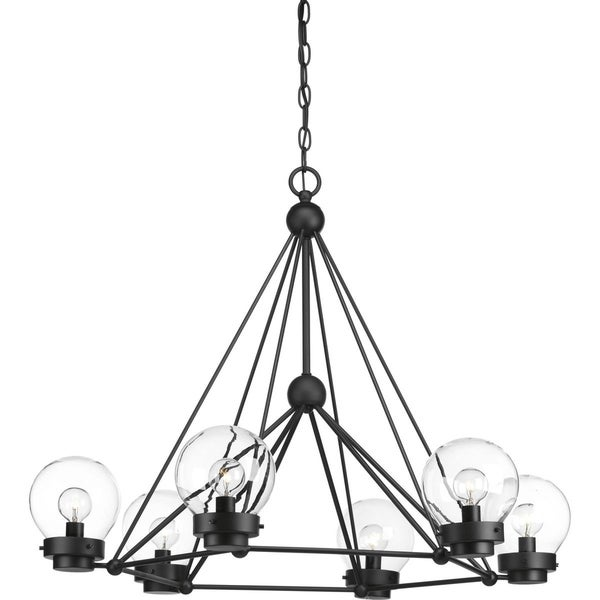 Spatial Six-Light Chandelier