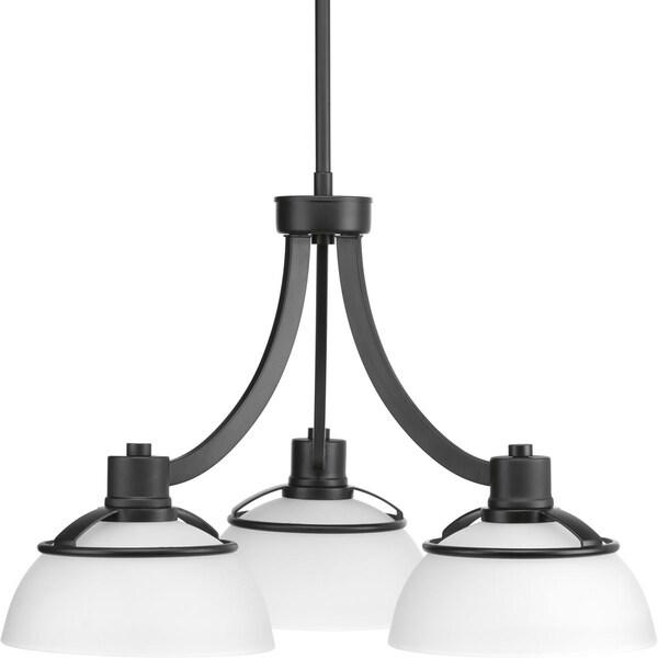Progress Lighting Domain Matte Black Steel 3-light Chandelier