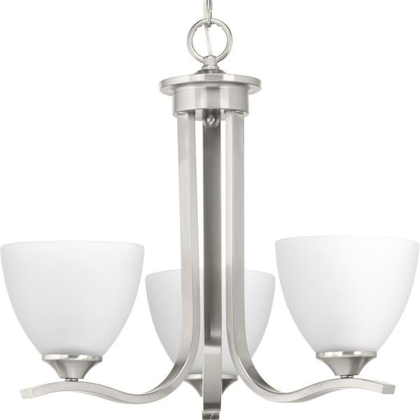 Progress Lighting Laird Grey Steel/Glass 3-light Chandelier