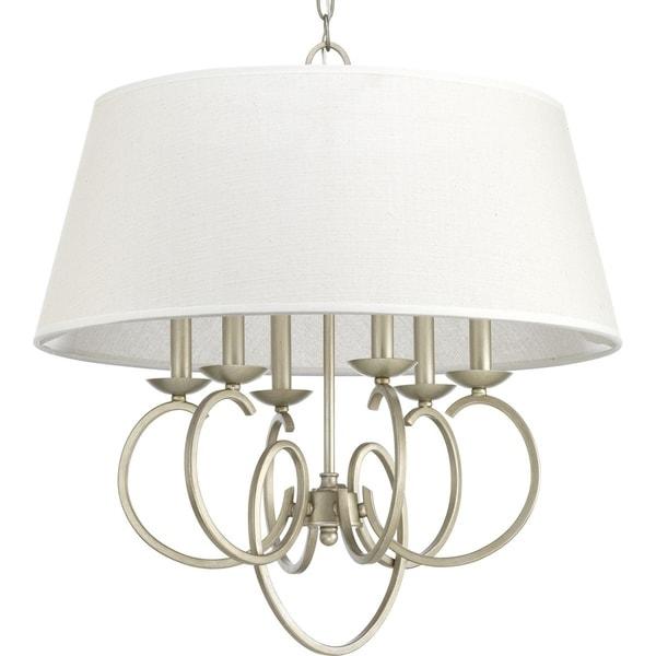 Progress Lighting Savor Grey Steel 6-light Pendant