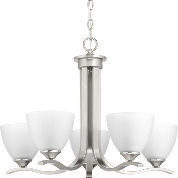 Progress Lighting Laird Grey Steel/Glass 5-light Chandelier
