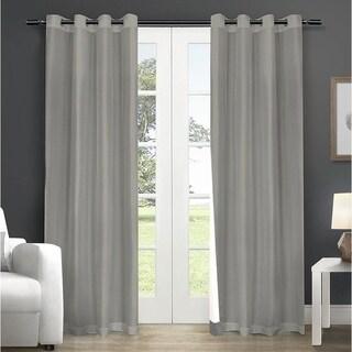 LAUREN TAYLOR - Fedora Faux silk foamback grommet Single Panel - Grey
