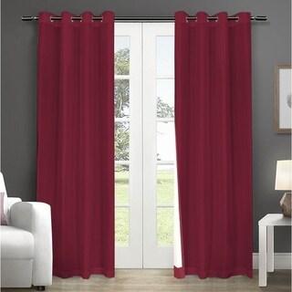 LAUREN TAYLOR - Fedora Faux silk foamback grommet Single Panel - Red