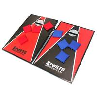 Sports Festival ® Cornhole Game Set w/ Tic Tac Toe - Red & Black