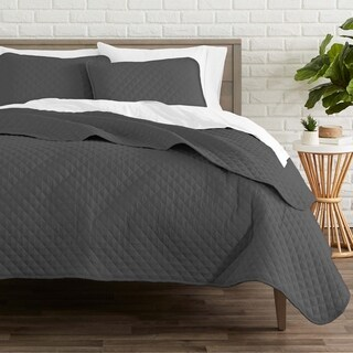 Coverlet Set + Microfiber Sheet Set - Diamond Stitched Lightweight Bedspread - Ultra-Soft Microfiber Sheet Set