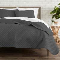Coverlet Set + Microfiber Sheet Set - Diamond Stitched Lightweight Bedspread - Ultra-Soft Microfiber Sheet Set
