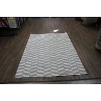 "Hair-on Hide Silver Leather Rug with Felt Backing - 7'6"" x 9'6"""