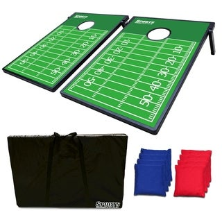 Sports Festival ® Cornhole Game Set w/ Tic Tac Toe - Football Field