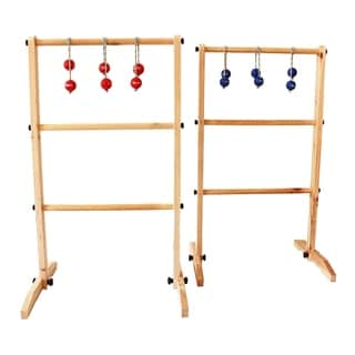 Sports Festival ® Wooden Ladder Ball Toss Game Set with 6 Bolas and Carrying Case