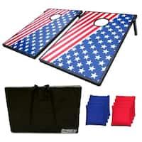 Sports Festival ® Cornhole Game Set w/ Tic Tac Toe - US Flag