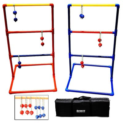 Sports Festival ® Premium Ladder Ball Toss Game Set w/ 6 Bolas & Carrying Case