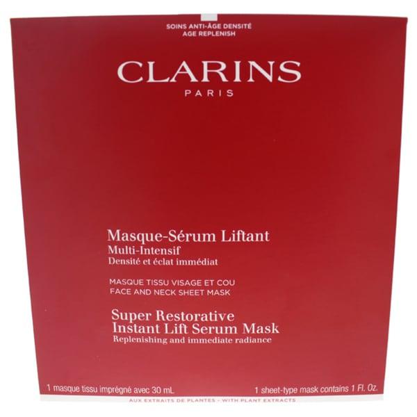 Clarins Super Restorative Instant Lift Serum Mask. Opens flyout.